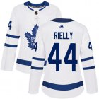 Cheap Adidas Maple Leafs #44 Morgan Rielly White Road Authentic Women's Stitched NHL Jersey