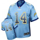 Cheap Nike Chargers #14 Dan Fouts Electric Blue Alternate Men's Stitched NFL Elite Drift Fashion Jersey