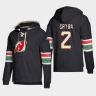 Cheap New Jersey Devils #2 Eric Gryba Black adidas Lace-Up Pullover Hoodie