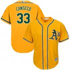 Cheap Athletics #33 Jose Canseco Gold Cool Base Stitched Youth MLB Jersey