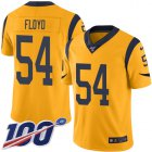 Cheap Nike Rams #54 Leonard Floyd Gold Youth Stitched NFL Limited Rush 100th Season Jersey