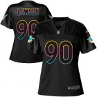 Cheap Nike Dolphins #90 Shaq Lawson Black Women's NFL Fashion Game Jersey
