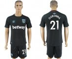 Cheap West Ham United #21 Ogbonna Away Soccer Club Jersey