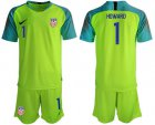 Cheap USA #1 Howard Shiny Green Goalkeeper Soccer Country Jersey