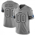 Cheap Dallas Cowboys Custom Men's Nike Gray Gridiron II Vapor Untouchable Limited NFL Jersey