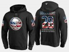 Cheap Sabres #28 Zemgus Girgensons NHL Banner Wave Usa Flag Black Hoodie