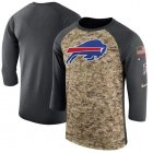 Cheap Men's Buffalo Bills Nike Camo Anthracite Salute to Service Sideline Legend Performance Three-Quarter Sleeve T-Shirt