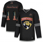 Cheap Florida Panthers #11 Jonathan Huberdeau Adidas Men's Black USA Flag Limited NHL Jersey