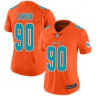 Cheap Nike Dolphins #90 Shaq Lawson Orange Women's Stitched NFL Limited Inverted Legend Jersey