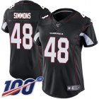 Cheap Nike Cardinals #48 Isaiah Simmons Black Alternate Women's Stitched NFL 100th Season Vapor Untouchable Limited Jersey
