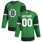 Cheap Boston Bruins Men's Adidas 2020 St. Patrick's Day Custom Stitched NHL Jersey Green