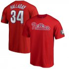Cheap Philadelphia Phillies #34 Roy Halladay 2019 Hall of Fame Name & Number T-Shirt Red
