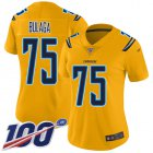Cheap Nike Chargers #75 Bryan Bulaga Gold Women's Stitched NFL Limited Inverted Legend 100th Season Jersey