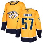 Cheap Adidas Predators #57 Dante Fabbro Yellow Home Authentic Stitched NHL Jersey