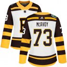 Cheap Adidas Bruins #73 Charlie McAvoy White Authentic 2019 Winter Classic Women's Stitched NHL Jersey