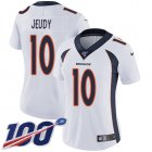 Cheap Nike Broncos #10 Jerry Jeudy White Women's Stitched NFL 100th Season Vapor Untouchable Limited Jersey