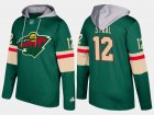 Cheap Wild #12 Eric Staal Green Name And Number Hoodie