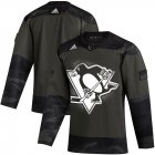 Cheap Pittsburgh Penguins Adidas 2019 Veterans Day Authentic Practice NHL Jersey Camo