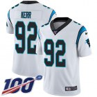 Cheap Nike Panthers #92 Zach Kerr White Men's Stitched NFL 100th Season Vapor Untouchable Limited Jersey