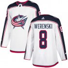 Cheap Adidas Blue Jackets #8 Zach Werenski White Road Authentic Stitched Youth NHL Jersey