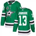 Cheap Adidas Stars #13 Mattias Janmark Green Home Authentic 2020 Stanley Cup Final Stitched NHL Jersey