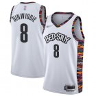 Cheap Men's Brooklyn Nets #8 Spencer Dinwiddie White Basketball 2019-20 City Edition Jersey