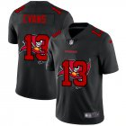 Cheap Tampa Bay Buccaneers #13 Mike Evans Men's Nike Team Logo Dual Overlap Limited NFL Jersey Black