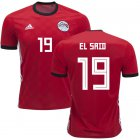 Cheap Egypt #19 EL Said Red Home Soccer Country Jersey