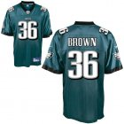 Cheap Eagles #36 Ronnie Brown Green Stitched NFL Jersey
