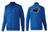 Cheap NFL Carolina Panthers Team Logo Jacket Blue_2
