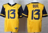 Cheap West Virginia Mountaineers #13 Andrew Buie 2013 Yellow Elite Jersey