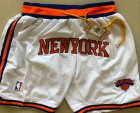 Cheap Men's New York Knicks White Just Don Shorts Swingman Shorts