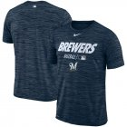 Cheap Milwaukee Brewers Nike Authentic Collection Velocity Team Issue Performance T-Shirt Navy