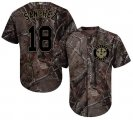 Cheap Astros #18 Aaron Sanchez Camo Realtree Collection Cool Base Stitched MLB Jersey