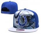 Cheap Colts Team Logo Blue Adjustable Leather Hat TX