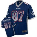 Cheap Nike Patriots #87 Rob Gronkowski Navy Blue Team Color Men's Stitched NFL Elite Drift Fashion Jersey