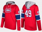 Cheap Canadiens #49 Logan Shaw Red Name And Number Hoodie