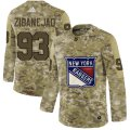 Cheap Adidas Rangers #93 Mika Zibanejad Camo Authentic Stitched NHL Jersey