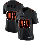 Cheap Cincinnati Bengals Custom Men's Nike Team Logo Dual Overlap Limited NFL Jersey Black