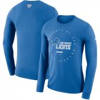 Cheap Detroit Lions Nike Property Of Sideline Performance Long Sleeve T-Shirt Blue