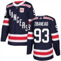 Cheap Adidas Rangers #93 Mika Zibanejad Navy Blue Authentic 2018 Winter Classic Stitched NHL Jersey