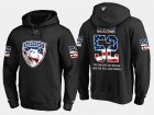 Cheap Panthers #52 Mackenzie Weegar NHL Banner Wave Usa Flag Black Hoodie