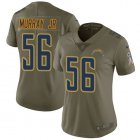 Cheap Nike Chargers #56 Kenneth Murray Jr Olive Women's Stitched NFL Limited 2017 Salute To Service Jersey