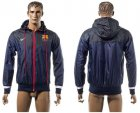 Cheap Barcelona Soccer Jackets Dark Blue