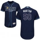 Cheap Rays #50 Charlie Morton Dark Blue Flexbase Authentic Collection Stitched MLB Jersey