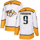 Cheap Adidas Predators #9 Filip Forsberg White Road Authentic Stitched Youth NHL Jersey