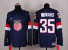 Cheap 2014 Olympic Team USA #35 Jimmy Howard Navy Blue Stitched NHL Jersey