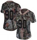 Cheap Nike Dolphins #90 Shaq Lawson Camo Women's Stitched NFL Limited Rush Realtree Jersey