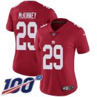 Cheap Nike Giants #29 Xavier McKinney Red Alternate Women's Stitched NFL 100th Season Vapor Untouchable Limited Jersey