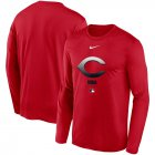 Cheap Men's Cincinnati Reds Nike Red Authentic Collection Legend Performance Long Sleeve T-Shirt